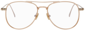 Tom Ford Pink and Gold Blue Block Pilot Glasses