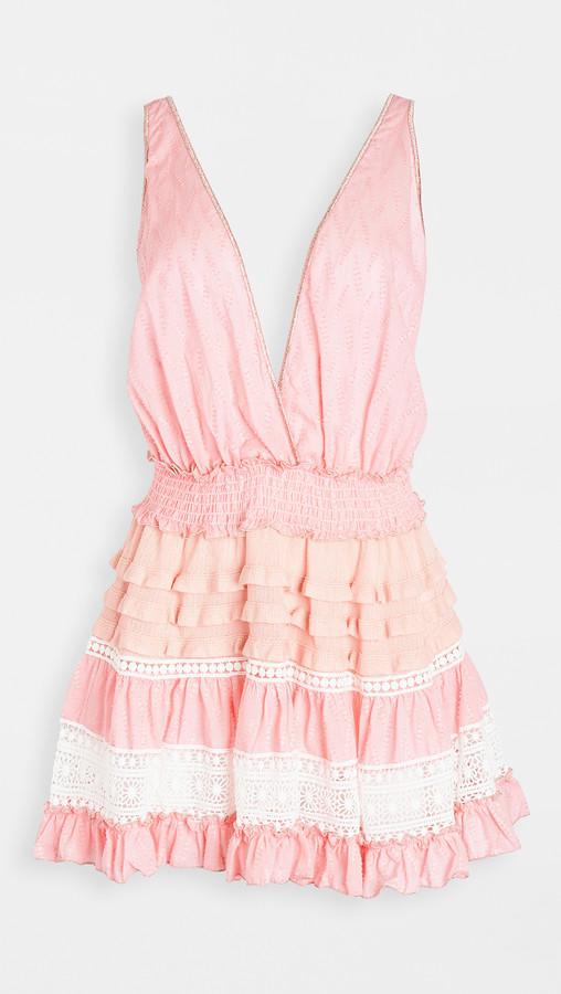 CHIO Short Knit Ruffle Dress