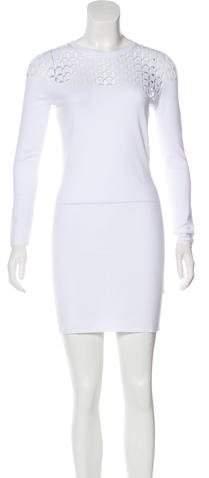 Versace Long Sleeve Bodycon Dress