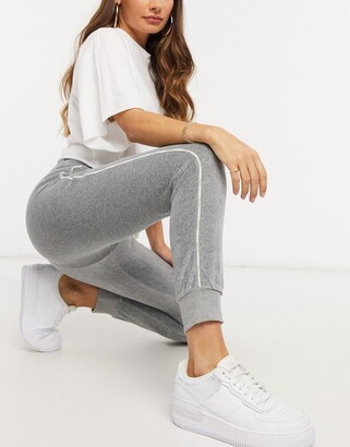Champion velour joggers in grey