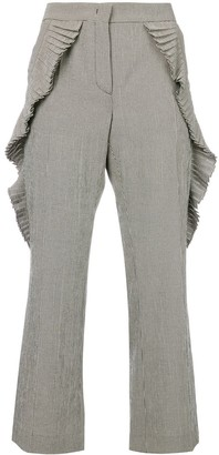 Marco De Vincenzo Pleated Gingham Trousers
