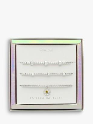 Estella Bartlett Wildflower Bracelet Jewellery Set, Silver