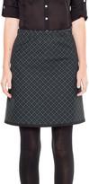 Max Studio Plaid Doubleknit Skirt