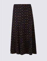 Marks and Spencer Geometric Print Jersey Midi Skirt