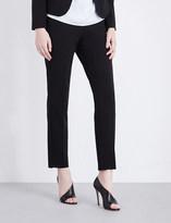 Armani Collezioni Slim-fit tapered stretch-wool trousers
