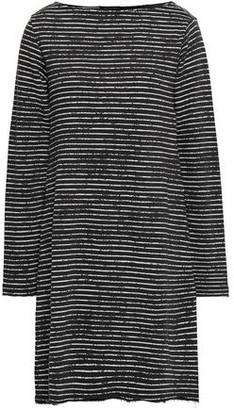 ATM Anthony Thomas Melillo Striped French Cotton-blend Terry Dress