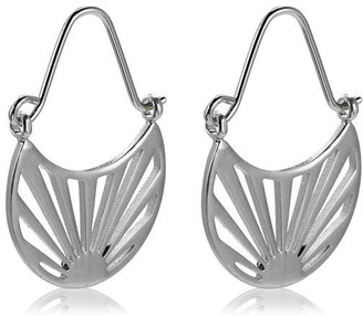 Pilgrim Earrings : Fire : Silver Plated