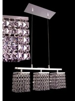 Swarovski Bedazzle 3-Light Kitchen Island Linear Pendant Classic Lighting Crystal Elements Emerald