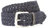 John Varvatos Leather Braided Belt