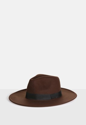 Missguided Brown Fedora Hat