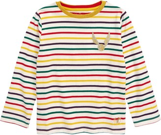 Boden Mini Harry Potter Golden Snitch Long Sleeve Stripe Tee