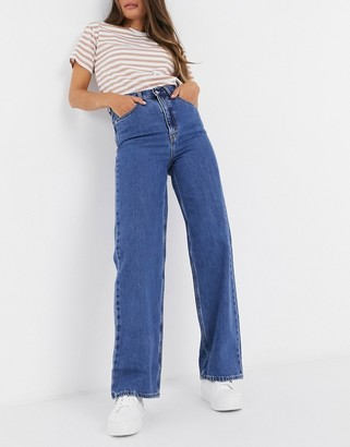 Levi's high loose straight leg jeans in dark blue