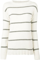 Eleventy striped jumper - women - Cotton/Polyamide - M