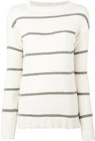 Eleventy striped jumper - women - Cotton/Polyamide - M