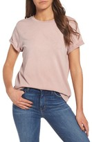 Current/Elliott Women's The Rolled Sleeve Glitter Tee