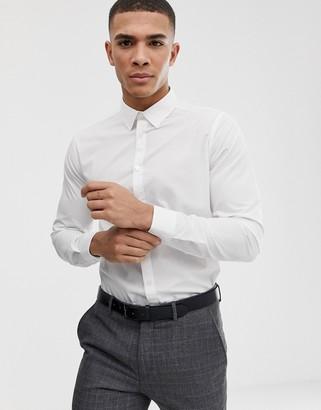 New Look poplin shirt in regular fit in white