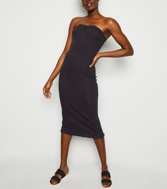 New Look Frill Trim Jersey Midi Dress