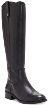 INC International Concepts Inc Fawne Wide-Calf Riding Leather Boots, Created for Macy's Women's Shoes