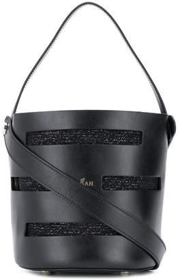 Hogan knitted detail bucket bag