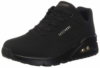 Skechers Women's Uno Stand On Air Fashion Sneaker Black 7.5 Medium US