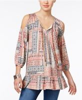 Style&Co. Style & Co Cold-Shoulder Peasant Top, Only at Macy's