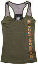 Superdry Women's Tank Tops Khaki - Khaki 'SuperDry Sport' Fitted Mesh Racerback Tank - Women