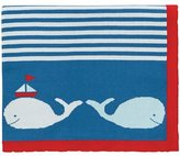 """Elegant Baby 100% Cotton Tightly Knit Blanket, Whale Motif, 30"""" X 40"""" by"""