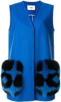 Fendi oversized V-neck waistcoat