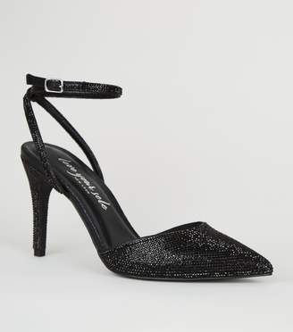 New Look Gem 2 Part Pointed Court Shoes