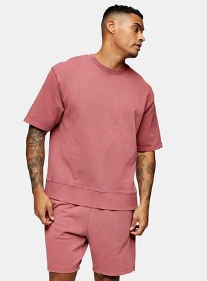 Burgundy Jersey Shorts
