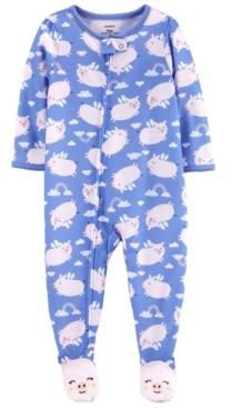 Carter's Baby Girls Flying Pig Loose Fit Footie Pajamas