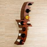 Home Decorators Collection Calabria 12-1/2 in. W Wall Mount Wine Rack in Rust
