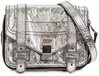 Proenza Schouler PS1 MINI ZIP METALLIC LEATHER BAG