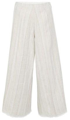 Forte Forte Cotton linen herringbone fringed pants