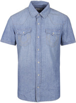 True Religion Ryan Western Blue Denim Shirt