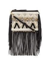 Rebecca Minkoff Taj Beaded Fringe Crossbody Bag, Black/White