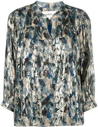 BA&SH Gaby metallic-effect blouse