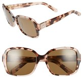 Kate Spade Women's Annor 54Mm Polarized Sunglasses - Black/ White