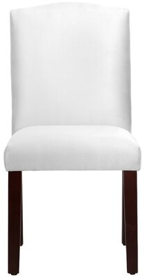 Skyline Furniture Premier Arched Upholstered Dining Chair Upholstery Color: White
