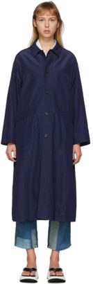 Blue Blue Japan Indigo Wavy Rayon Coat