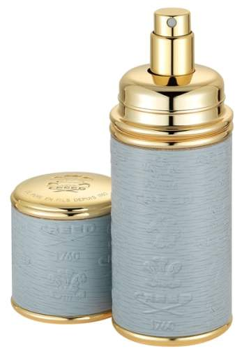 Creed Grey with Gold Trim Leather Atomizer