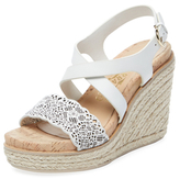 Salvatore Ferragamo Gioela Laser-Cut Leather Wedge