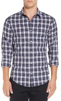 Original Penguin Men's Trim Fit Plaid Woven Shirt