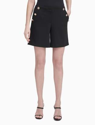 "Calvin Klein Embossed Button 8"" Shorts"
