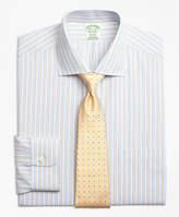 Brooks Brothers Non-Iron Madison Fit Framed Track Stripe Dress Shirts