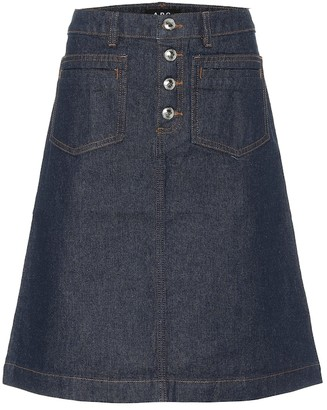 A.P.C. Michelle denim skirt