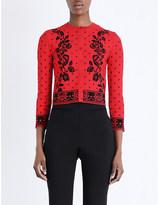 Alexander McQueen Jacquard knitted cardigan