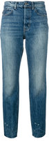 Helmut Lang distressed cropped jeans