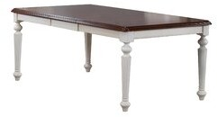 Rosalind Wheeler Gonzalez Solid Wood Dining Table Rosalind Wheeler Color: Antique White/Chestnut