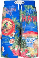 Polo Ralph Lauren Hawaii print swim shorts